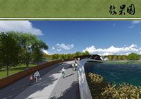 公园景观桥效果图 JPG