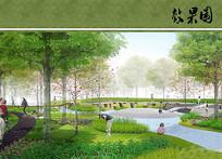公园林下景观节点效果图 JPG