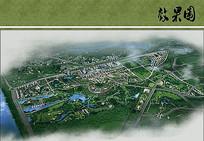 合肥生态公园景观规划鸟瞰图