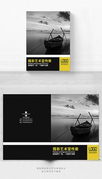 黑色创意摄影画册封面设计