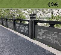 栏杆样式意向图