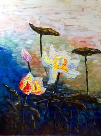 莲油画装饰画