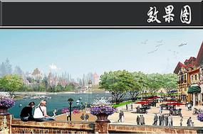 梦幻城水域风情商业街效果图