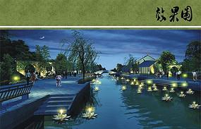 宁波中心区双环甘露公园夜景