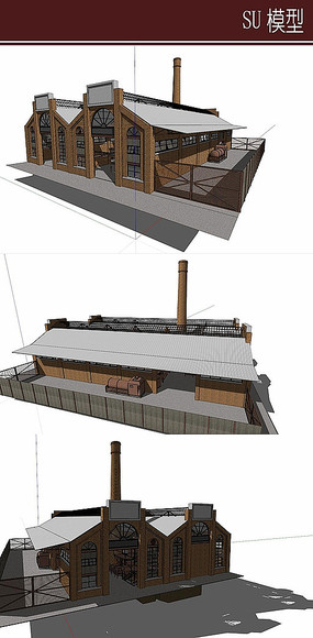 欧式木质小作坊模型