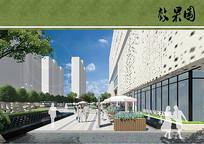 商业步行广场效果图 JPG