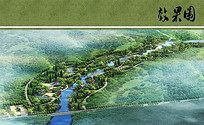 嬉水公园景观规划鸟瞰图