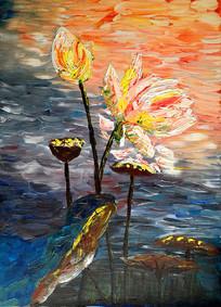 睡莲艺术装饰画