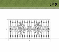 铁艺大门花纹设计