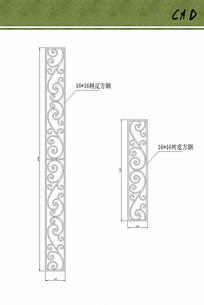 铁艺花纹方案设计
