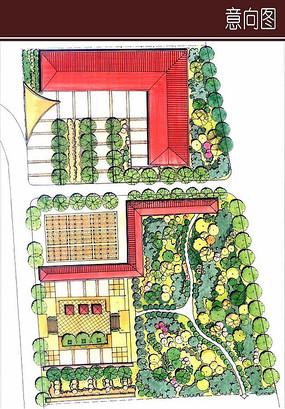 庭院景观平面图
