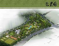 体育公园景观规划鸟瞰