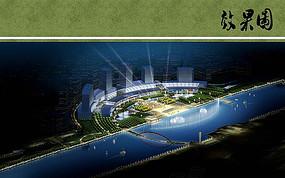 通州运河城市运动健康区夜景