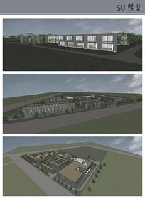 现代风格办公楼su模型