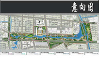 中央公园景观方案彩平图