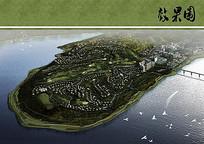 篆山坪公园景观规划鸟瞰