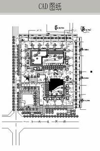 住宅景观总图 CAD