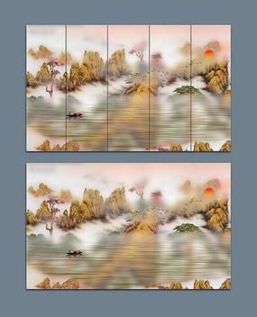 抽象唯美山水国画艺术画