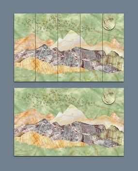 抽象纹理大理石电视背景墙