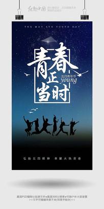 精美大气青年节主题海报