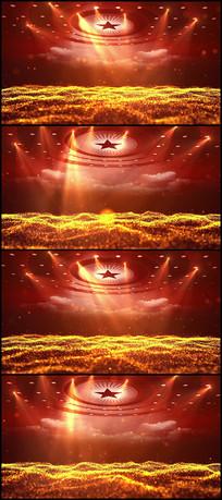 金色颁奖粒子LED视频背景