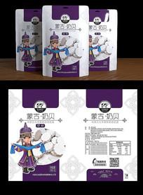 蒙古卡通奶食品包装设计