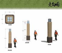 欧式灯柱设计 JPG