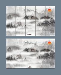 水墨国画山水抽象水墨画