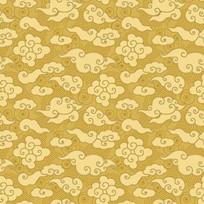 东方中式金色祥云背景古典花纹