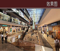 购物商城室内效果图