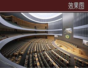 国际会议室室内效果图
