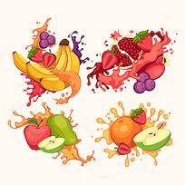 果汁包装插画