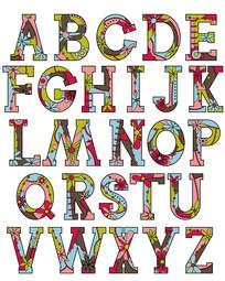 花朵艺术字海报时尚杂志字体