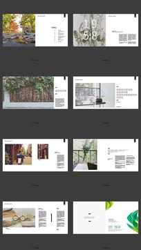 花艺企业宣传画册设计模版