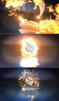 会声会影火焰粒子碰撞片头模板