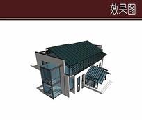 会所模型建筑效果图