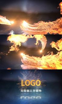 火焰碰撞LOGO片头AE模板