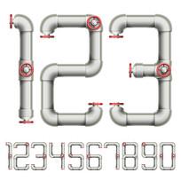 立体字水管管道数字艺术字体