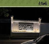 年画浮雕景墙