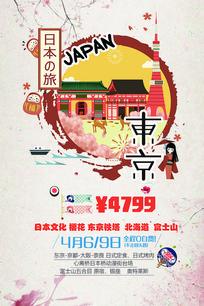 日本旅游宣传广告海报