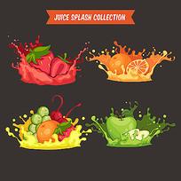 水果饮料插图素材