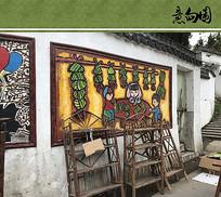乡村墙画意向图