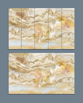 意境抽象大理石山水画