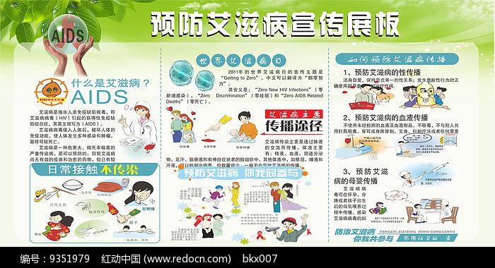 预防艾滋病宣传展板设计图片