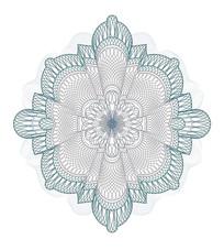 花朵形状证书防伪纹模板