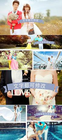 婚礼字幕条相册片头ae模板