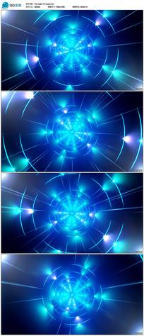 蓝色三维光线隧道视频