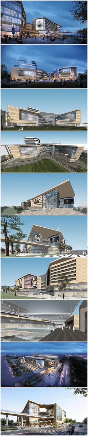 商业综合体建筑SU模型效果图