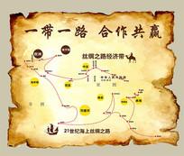 一带一路矢量路线地图 CDR