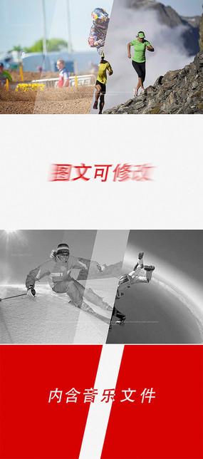 ae动感体育运动片头模板